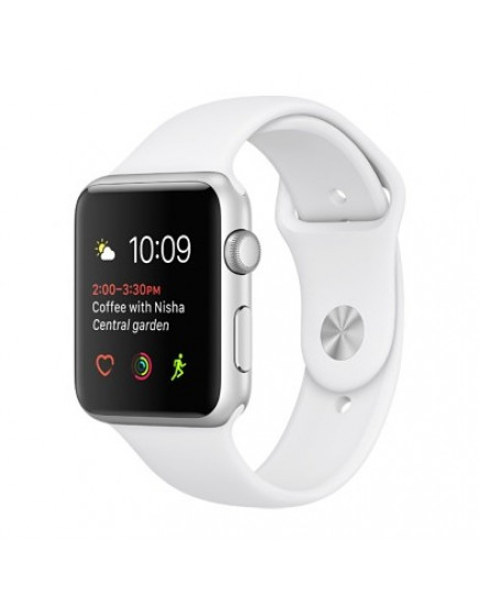 Умные часы Apple Watch Series 1 38mm Silver Aluminum Case with White Sport Band (MNNG2)
