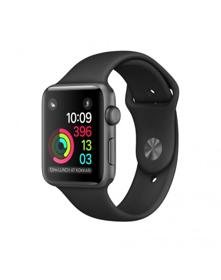 Умные часы Apple Watch Series 1 38mm Space Gray Aluminum Case with Black Sport Band (MP022)