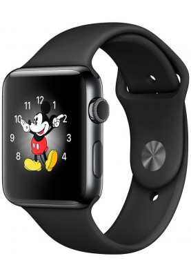 Apple Watch Series 2 38mm Space Black Stainless Steel with Black Sport Band (MP492)