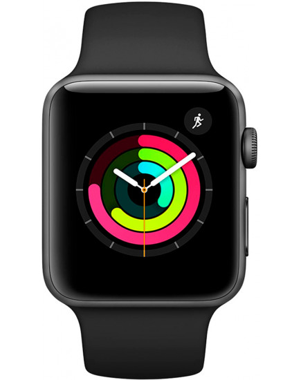 Умные часы Apple Watch Series 3 42mm Space Gray Aluminum Case with Black Sport Band (MQL12)