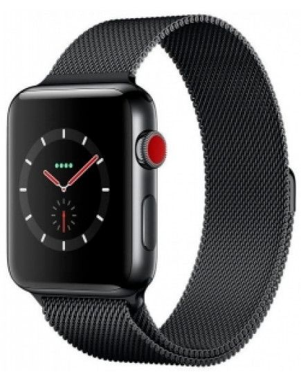 Умные часы Apple Watch Series 3 42mm Space Black Stainless Steel Case with Space Black Milanese Loop (MR1V2)