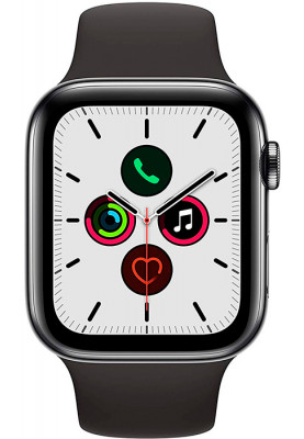 Apple Watch Series 5 LTE 44mm Stainless Steel Space Black (MWWK2)