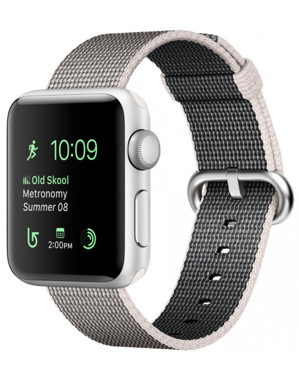 Apple Watch Series 2 38mm Silver with Pearl Woven Nylon (MNNX2)