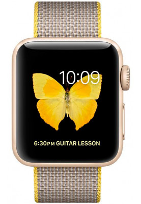 Apple Watch Series 2 38mm Gold with Pearl Woven Nylon (MNP32)