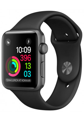 Apple Watch 42mm Space Gray with Black Sport Band (MP032)