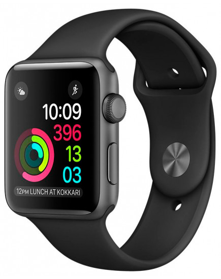 Умные часы Apple Watch 42mm Space Gray with Black Sport Band (MP032)