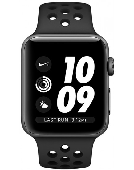 Apple Watch Nike+ 38mm Space Gray Aluminium Case with Anthracite/Black Nike Sport Band (MQKY2)