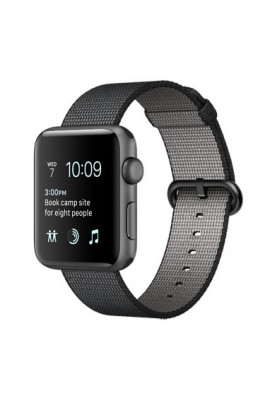 Apple Watch Series 2 38mm Space Grey Aluminium Case with Black Woven Nylon Band (MP052)