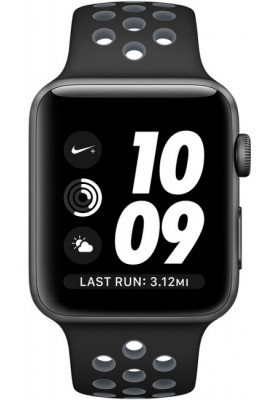 Apple Watch Nike+ 38mm Space Gray with Black/Cool Gray Band (MNYX2)