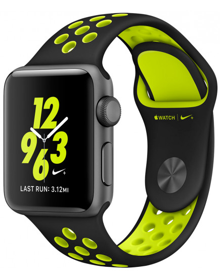 Умные часы Apple Watch Nike+ 38mm Space Gray with Black/Volt Nike Band (MP082)