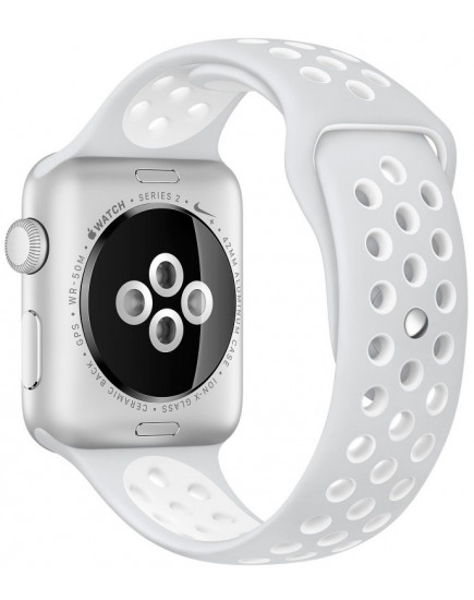 Apple Watch Nike+ 38mm Silver with White Nike Sport Band (MQ172)