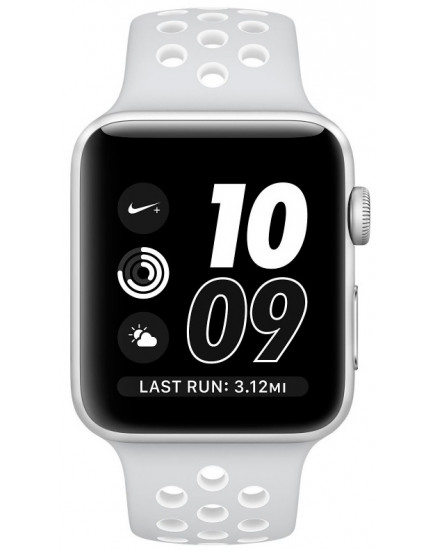 Apple Watch Nike+ 42mm Silver with White Nike Sport Band (MQ192)
