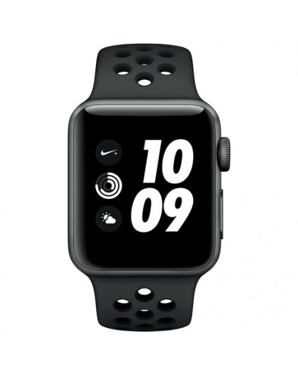 Apple Watch Nike+ 42mm Space Gray Aluminum Case with Anthracite / Black Nike Sport Band (MQL42)